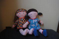 popjes uit het boek van Tante Hilde voor de meisjes