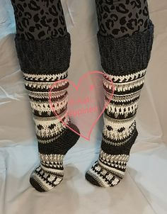 These multi-colored socks are warm, beautiful and comfortable to wear! Everyone wants them for themselves!