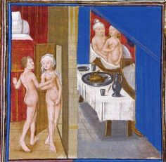 Rambures Master, Bath Scene, around 1470. One of the rare examples of erotica from the medieval era.