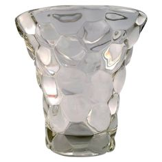 Pierre D'Avesn, French Art Deco Glass Vase in Modern Design, 1940s-1950s
