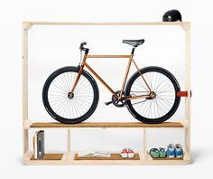 Bike rack, room divider, bench, storage shelving #thomaswalde