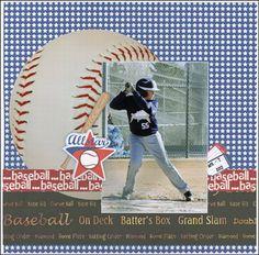 All Star baseball layout by Carolyn Lontin