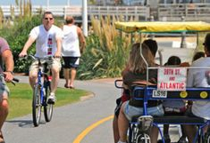 The 3-mile boardwalk at Virginia Beach has a separate path for bikes and surreys > 10 Fun Things to Do in Virginia Beach with Kids | About.com Family Vacations