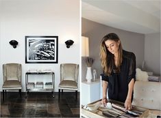 Kara Smith's L.A. Office, Rue Daily ~ for the graceful draping of blouse and tranquil palette