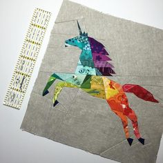 """Kristy's AHHHMAZING #geometric #unicorn pattern reduced from 12.5"""" to 8""""… Mehr"""