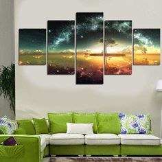 Tree Under Stars Multi Panel Canvas
