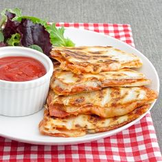 Pepperoni Pizza Quesadillas - use low carb tortillas