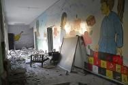 The humanitarian situation in Syria  continuously deteriorated throughout September, with tens of thousands more people displaced. The ICRC  and Syrian Arab Red Crescent have been distributing food and other forms of aid to those impacted.This image is of a destroyed school in Homs, Syria.