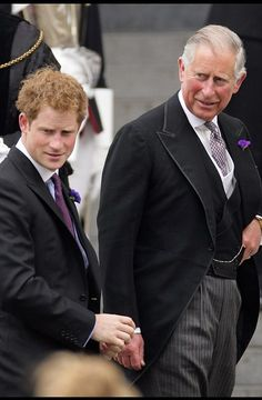 Prince Harry with his father Prince Charles....NO WAY THAT IS HIS FATHER...BUT WHAT A LOOKER HE IS