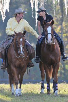 A great photo of Pat and Linda Parelli