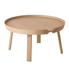 Buy Muuto Around Large Coffee Table online with Houseology Price Promise. Full Muuto collection with UK & International shipping. Danish Design, Modern Design, Wooden Coffee Table Designs, Muuto, Large Coffee Tables, Large Table, Large Sofa, Table Furniture, Furniture Design