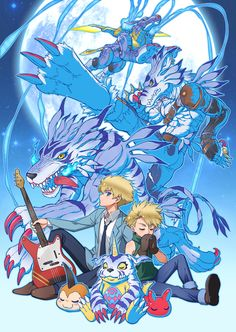 Digimon - Matt with Gabumon's Digivolutions by eclosion