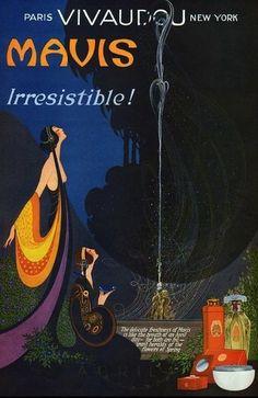 Frederick Little Packer (1886-1956) - 1923 L'Esprit Swing's, Mavis perfume Advertising