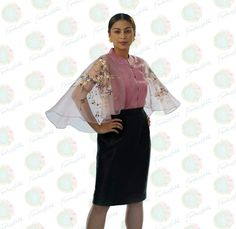 HAND PAINTED CAPE BLOUSE MADE IN LUMBAN LAGUNA   #CAPEBLOUSE #HANDPAINTEDCAPE #FILIPINIANA #MODERNFILIPINIANA #FORMAL #TERNO