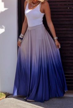 Faded Maxi Skirt
