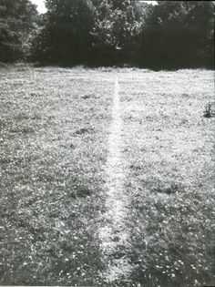 Richard Long - 1967, A line made by walking
