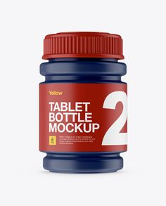 Matte Pill Bottle Mockup - Front View (Preview)