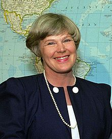 """Elisabeth Rehn had a high profile as the first female Minister of Defence of Finland. In 1995, during Rehn's term as minister of defence, a law on voluntary female enlistment was enacted. Rehn is known for her international assignments as UN Undersecretary General (1995-1999) and as the special rapporteur for Human Rights in Bosnia and Herzegovina (1998-1999). Member of the Global Leadership Foundation."" (quote) via wikipedia.org"