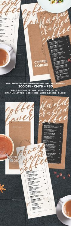 Coffee Menu — Photoshop PSD #promotion #coffee menu • Download ➝ https://graphicriver.net/item/coffee-menu/20498232?ref=pxcr