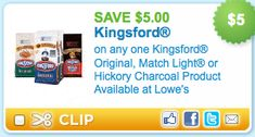 Coupon Good On Any Kingsford Charcoal Only 0 49 At Safeway