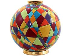 Faïencerie et émaux de Longwy Pottery Vase, Ceramic Pottery, Ceramic Painting, Ceramic Art, Handmade Pottery, Handmade Art, Ceramic Texture, Mosaic Crafts, Sgraffito