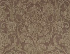 Stylish and approachable, Cheryl is traditional but sure to engage the eye. Adopted from an antique fabric, this #wallpaper pattern is finished with a raised print for a highly-textured and dimensional appearance. Featured here in #chocolate from the Neutral Resource collection.#Thibaut