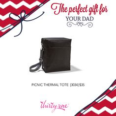 Thirty-One Picnic Thermal Tote - the perfect holiday gift for your dad http://www.mythirtyone.com/amywilson825