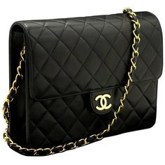 CHANEL Chain Shoulder Bag Clutch Black Quilted Flap Lambskin ($1,385) ❤ liked on Polyvore featuring bags, handbags, clutches, quilted chain strap purse, lambskin handbags, lambskin leather handbags, chain-strap handbags and lambskin purse
