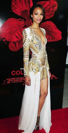 "Zoe Saldana, Balmain -- ""Colombiana"" Film Premiere"