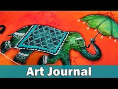 Art Journal layout | balance. Using Dylusions paint applied with baby wipe for background and stencils.