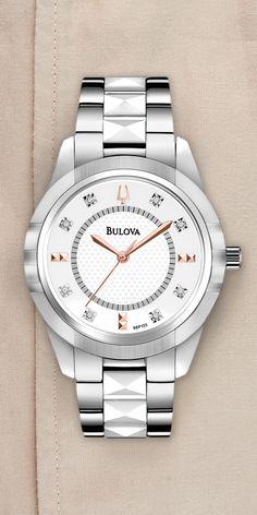Feminine and refined. #Bulova #Diamond