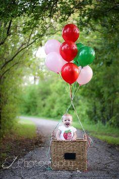 Baby balloon basket pic  J Photography by Jessica Bentley in Wichita, KS