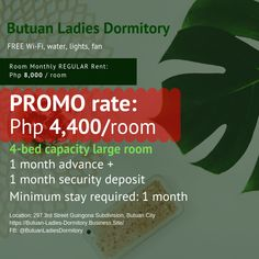 Bed Space in Ladies Dormitory / Boarding House For Rent in Butuan City Bed In Living Room, Boarding House, Furnished Apartment, Dormitory, Renting A House, City, Business, 1 Month, Rental Property