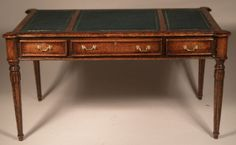 Library Desk by Alan Barnes - $650.00 : Swan House Miniatures, Artisan Miniatures for Dollhouses and Roomboxes