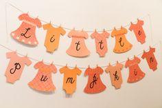 Little Pumpkin Banner Baby shower/birthday by FestivaPartyDesign