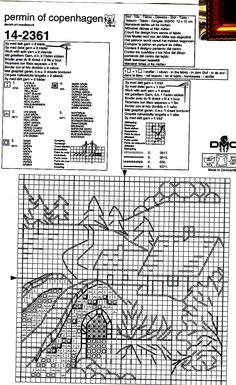Schema punto croce Casa Ponte 04