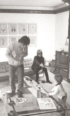 John Lennon, George Harrison, Julian Lennon and Cynthia Lennon