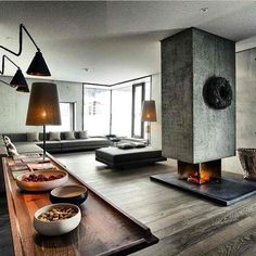 Image result for industrial themed living room
