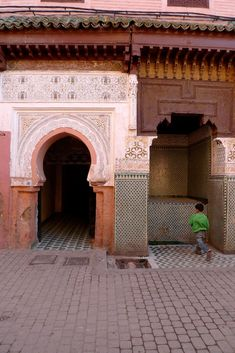 """Caitlin & Samuel of Popham Design: """"The exterior of our 250+-year-old home that is literally inside a mosque in the Marrakech medina."""""""