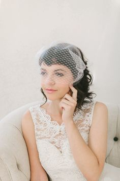 Beautiful Double Layer Bandeau Veil