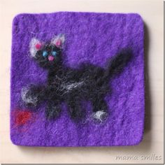 Needle felting - a fun, forgiving, and engaging craft for all ages! This cat was made by an 8-year-old.