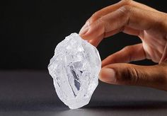 """Meaning """"our light"""" in Botswana's Tswana language, the Lesedi La Rona was unearthed by Lucara Diamond Corp. in a Botswana mine last November. The stone, which clocks-in at a jaw-dropping Crystals Minerals, Rocks And Minerals, Crystals And Gemstones, Stones And Crystals, Gem Stones, Diamond Mines, Rough Diamond, All Gems, Rocks And Gems"""