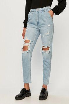 Tally Weijl - Jeansi dama moderni cu rupturi si talie inalta Tally Weijl, Mom Jeans, Pants, Casual, Products, Fashion, Stuff Stuff, Trouser Pants, Moda