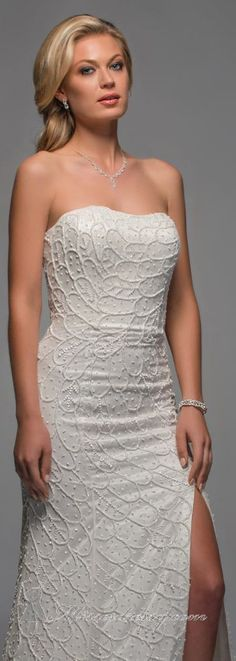 Embellished with Slit Long Gown by Scala Mother of the Bride