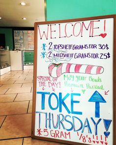 TOKE IT UP THURSDAY!! 5G 1/8TH'S ALL DAY!! OPEN TIL 1AM! #TOKEITUP #COLLECTIVE #FLOWER #BUD #PROP215 #MEDICALCANNABIS #CANNABIS #BONGBEAUTIES