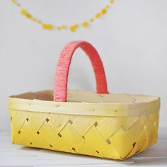 See how simple it to take an ordinary basket and turn it into this!