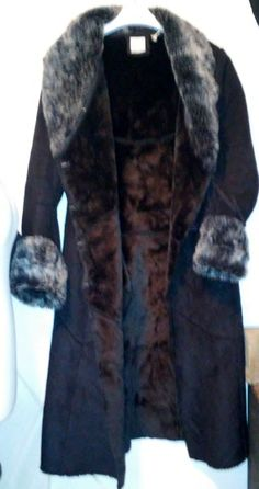 Sheepskin coat faux Black,  imitation sheepskin  Size: M #R #BasicCoat
