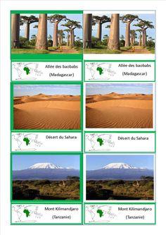 cartes nomenclature paysages Afrique Science Montessori, Kids Homework, Les Continents, Social Studies Resources, Montessori Materials, Jungle Safari, Reggio Emilia, Science Nature, Around The Worlds