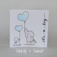 #kaart #geboorte #baby #girl #handlettering www.sturdyandsweet.jouwweb.nl