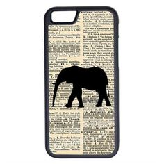CellPowerCasesTM Vintage Elephant iPhone 6 (4.7) V1 Black Case ($9.98) ❤ liked on Polyvore featuring accessories, tech accessories and black